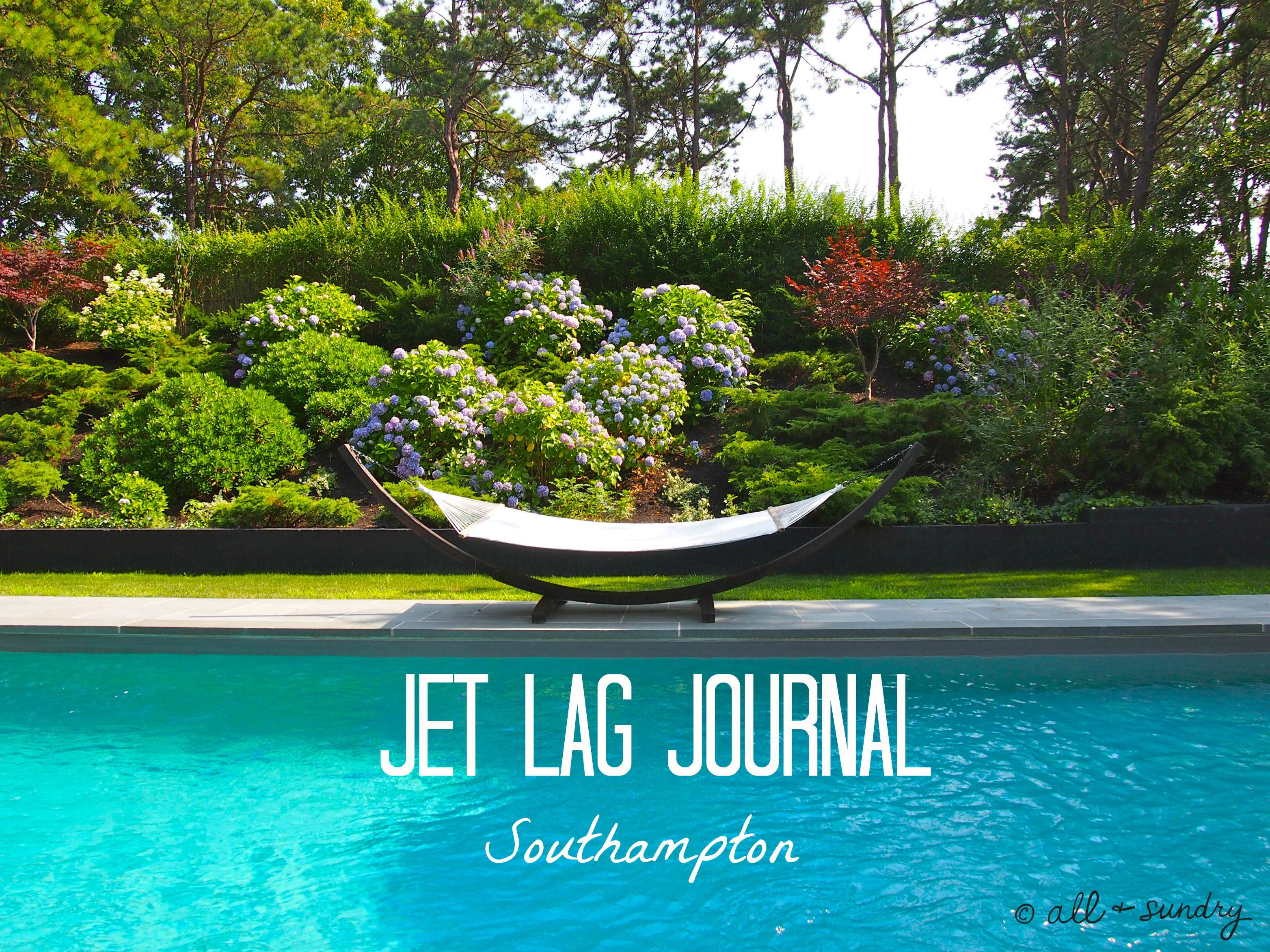 Southampton Jet Lag Journal Hammock Header