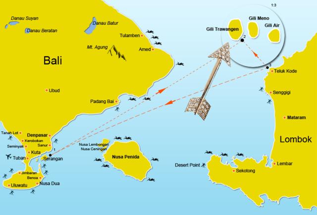 Bali Map - Gili T