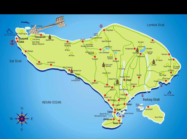 Bali Map - West Bali National Park
