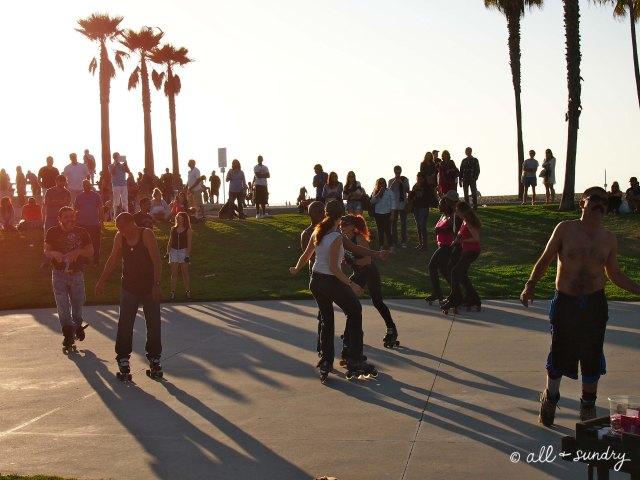 Venice Beach rollerskaters