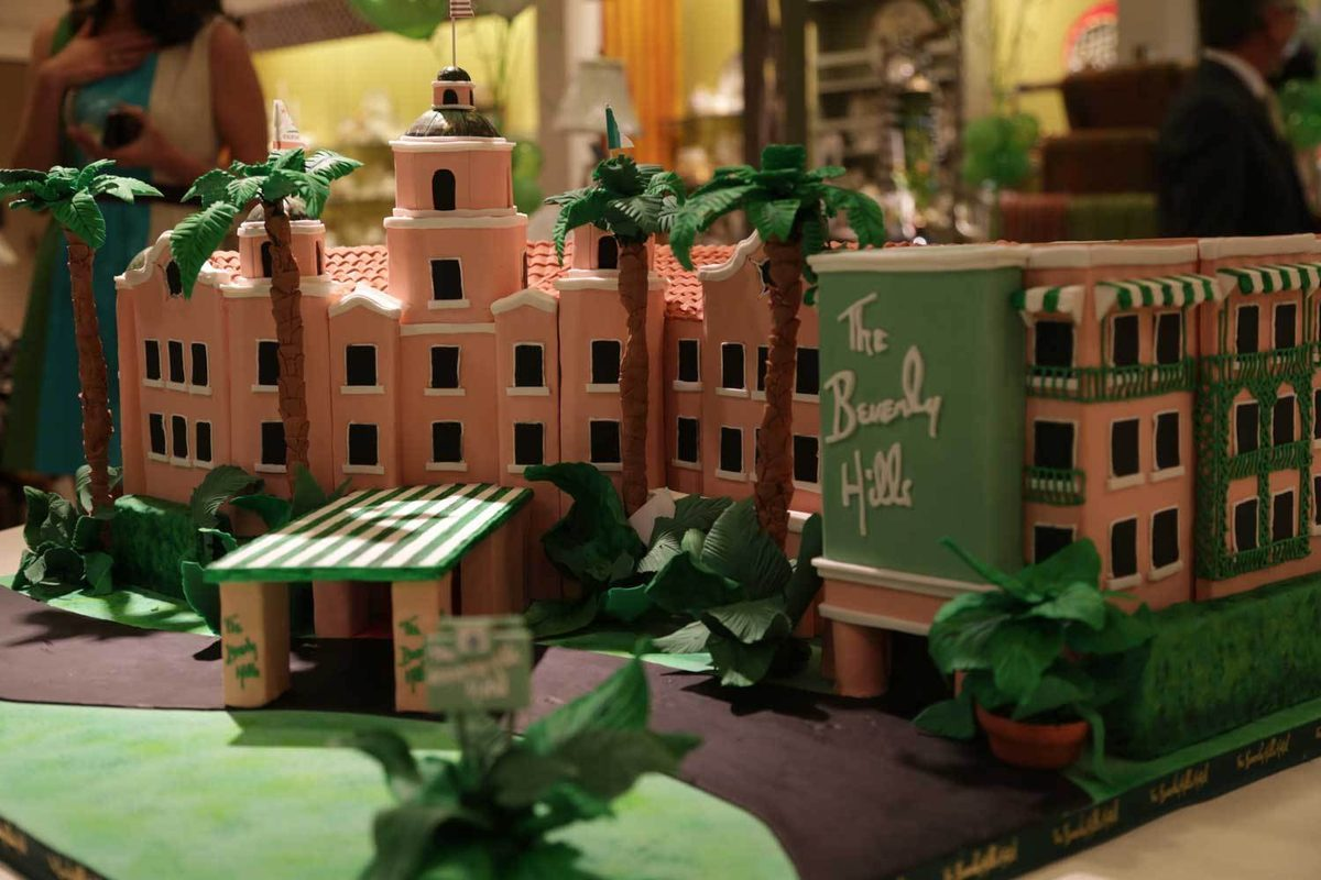 Beverly Hills Hotel Cake