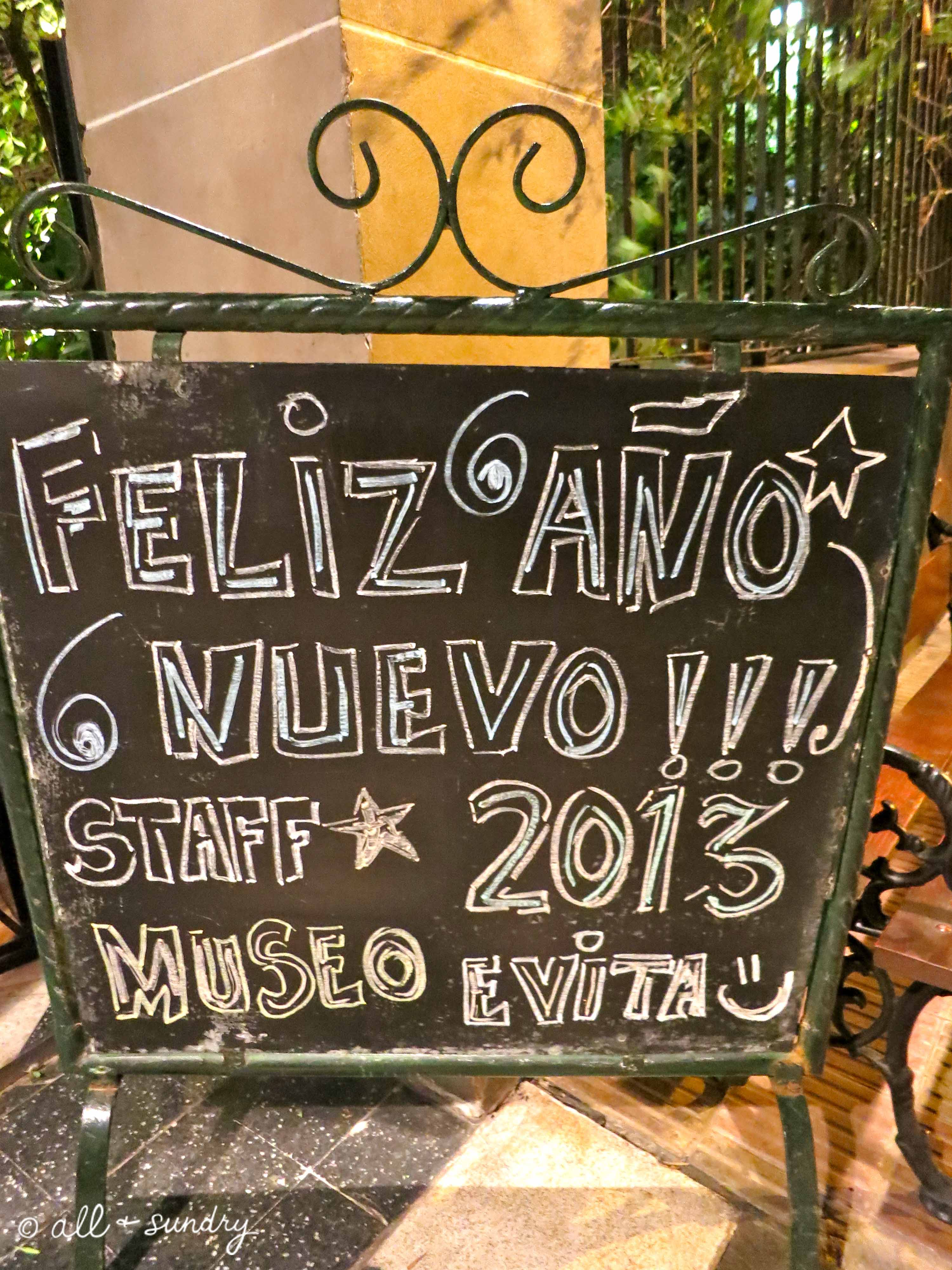 New Year's Eve Evita Museo