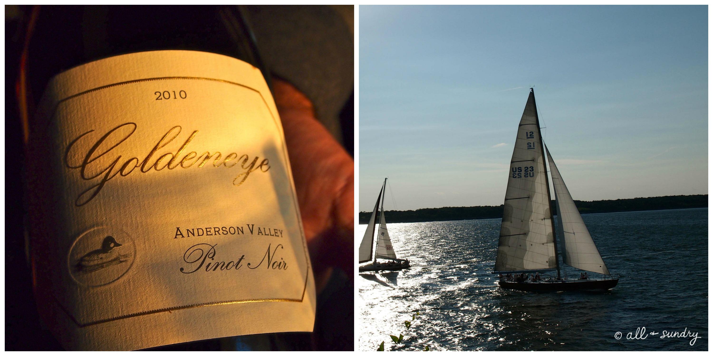 Wine and Sailboat